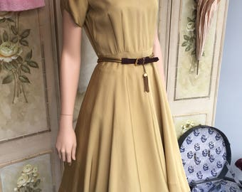Reduced***Stunning Original Vintage 1950s Dress and Bolero Jacket. Size 10.