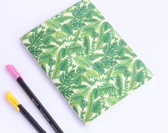 Tropical Leaves notebook - journal