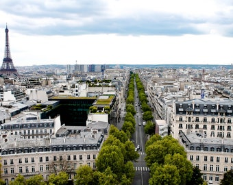 Paris, France, Travel Photography, Europe, Street, Home Decor, French, Fine Art Prints, Wall Art, Parisian, Skyline, Arc De Triomphe