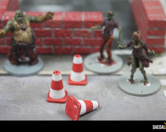 pack of 6 cones for tabletop miniature game like zombicide