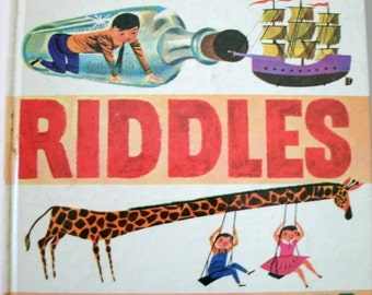 Jokes Riddles Funny Stories, Oscar Weigle, Vintage 1950s Children's Book, 1959
