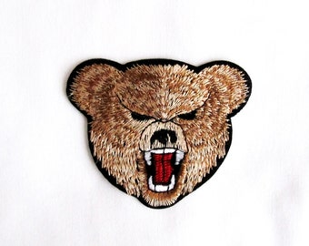 BEAR Patch,BearEmbroidered Patch,Animal patch ,Iron on Patch ,bear Applique,DIY Craft/Costume Embellishment