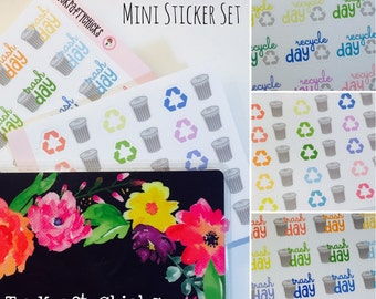 MINI Trash Recycle Day Planner Sticker Set