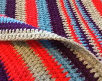 Crochet Blanket / Crochet Throw/Cottage Weekend Blanket / Crochet Afghan/ large/  Blanket Ready to ship