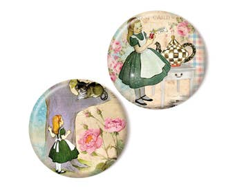 2 magnets, Alice in Wonderland