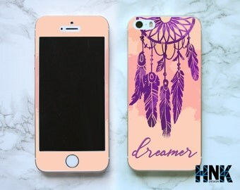 Iphone SE full skin / Iphone 5s decal / Iphone 5 decorative cover / dream catcher case IS008