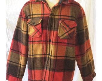Vintage Men's Heavy Lined Flannel Shirt