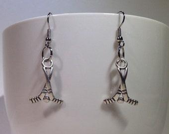 Hockey Earrings - Hockey Team Earrings - Hockey Jewelry - Hockey Stick Earrings - Hockey Team Jewelry