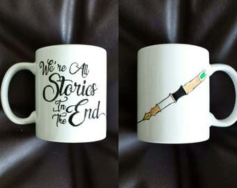 Hand painted mug inspired by Doctor Who