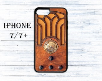 Vintage radio phone cover for iPhone 4/4s, iPhone 5/5s/5c, iPhone 6/6+, iPhone 6s/6s Plus, iPhone 7/7+ phones - gift idea case for iPhone