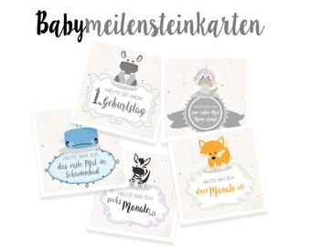 Baby Meilensteinkarten Dreamchen Meilensteine