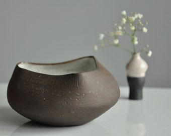 Black Clay Stoneware Bowl
