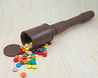 Chocolate German Stick Grenade with 'smarties'