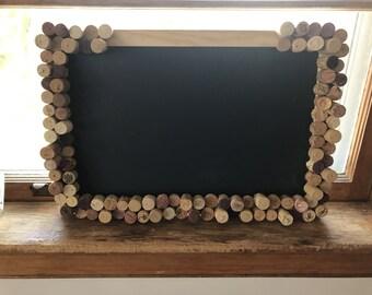 Rectangle Corked Chalkboard w/ Free Woodburned Personalization