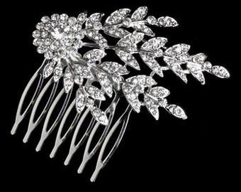 Crystal Bridal Comb, SECRET GARDEN,  Crystal Bridal Headpiece, Luxury Wedding Headpiece, Couture Bridal Headpiece, Bridal Comb,  Headpiece