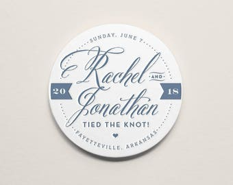 Custom Letterpress Coasters | Whimsical Typography | Set of 100