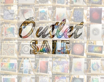 Outlet sale! Out with the old, in with the new. Zentangle zendoodle mandala original mixed media paintings