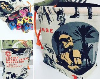 Star Wars Rogue One Drawstring Dice Bag