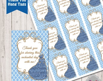Cinderella Birthday - Thank You Hang Tags - Printable - HT005b