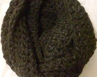 Super chunky cowl infinity circle blanket scarf/Charcoal grey