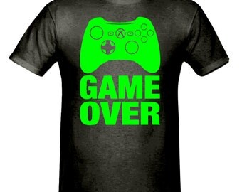 Game over t shirt, boys t shirt sizes 5-15 years,game over children's t shirt