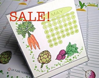 Sale! 2017 Desk Calendar in CD Case/Stand, Verdura designs, US & UK Layouts.