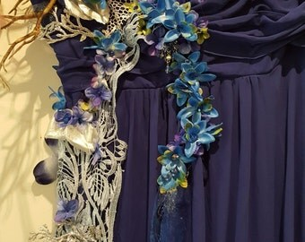 Fairy/water fairy upcycled boho dress