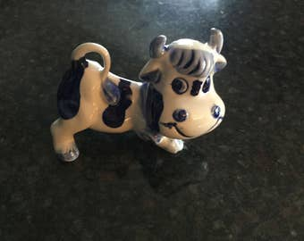 BLUE DELFT COW   Happy lil' Cow/Bull