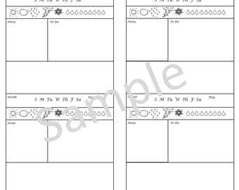 Hobinichi X2/Insert For Your Traveler's Notebook - Cahier / wide  digital download Printable