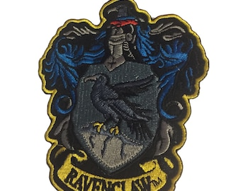 Harry Potter Ravenclaw Crest Wizarding World 4 1/2 Inches Tall Iron On Applique Patch
