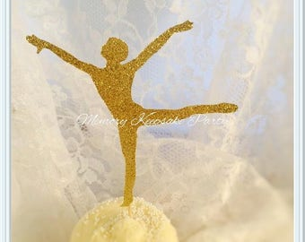 Male Dancer Cupcake Toppers - Male Ballet Dancer - Male Party Decorations - Male Party Decor - Male Birthday Party Cupcake Toppers - Dancing