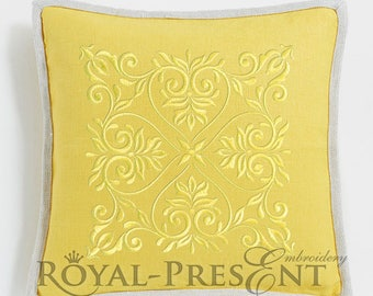Machine Embroidery Design Ornamental floral background - 3 sizes