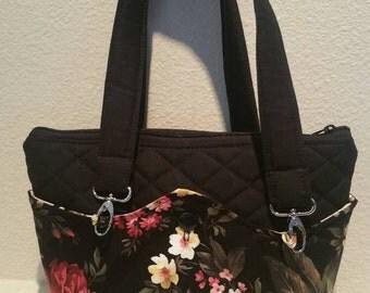 SALE: Quilted interchangable/reversible hand bag/purse