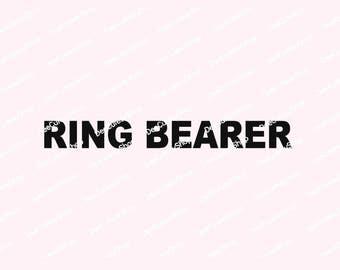 Ring Bearer Iron On, Matte Black, Wedding Iron On, NOT DIGITAL Iron-On Decal