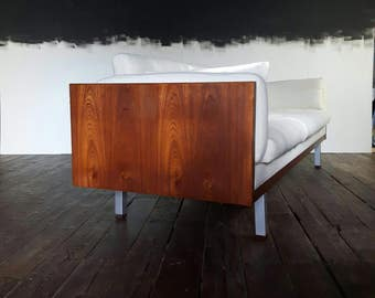 "Mid Century Reupholstered Danish ""mad men"" sofa by Jydsk Mobelvaerk"