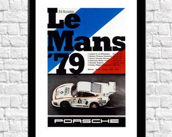 Le Mans Car Print 1979 Automotive Motorsport Art Print
