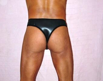 Mens clubwear G-sting Lasso-string lingerie sexy underwear gay smooth skin neoprene new unique