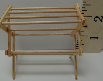 Dollhouse Miniature Folding Clothes Drying Rack, Small #ITM200