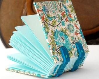 Small book, notebook bag, mini, Coptic binding guestbook, diary, notebook