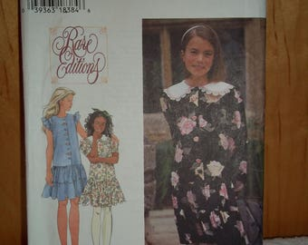 Simplicity Rare Editions Pattern 9861 Girls' Dress Sizes 12 and 14, Uncut