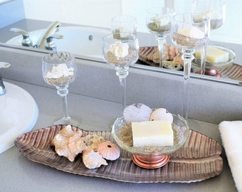 Bathroom Organization | Beach Decor | Gift Set | Bathroom Decor | Centerpiece | Gift for Her | Housewarming Gift | Coastal | Modern Decor