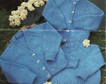 Knit Pattern Baby Cardigan and Sweaters instant download knitting pattern