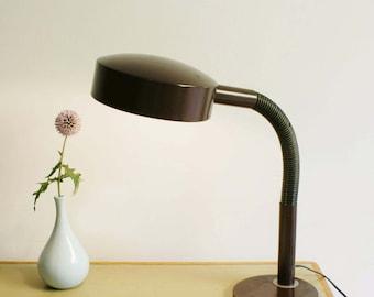 Nice vintage Hala desk lamp. Brown retro lamp, Dutch Design