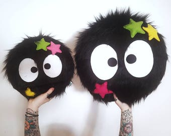 Studio Ghibli - SUPER SIZED Soot Sprite - Plush Pillow Toy - My Neighbor Totoro