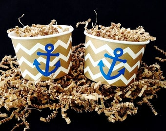 Treat Cups - Nautical Wedding - Nautical Baby Shower - Nautical Party - Beach Wedding - Engagement Party - Pirate Party - Party Favors - Set