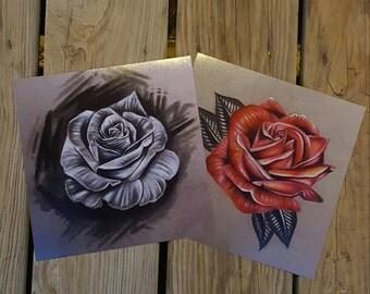 Two Piece Rose Print set