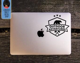 Outdoor Adventures & Bear Macbook / Laptop Vinyl Decal