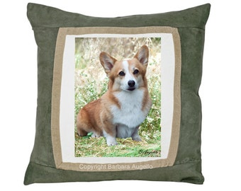 Corgi Pillow, Corgi Gift, Corgi Art, Corgi Throw Pillow, Corgi