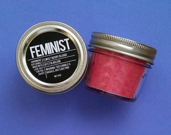 Feminist Candle - Scented Soy Candle - Feminism - Girl Power Candle - by Etta Arlene Candles 4 oz Jar