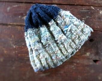Wabi Sabi Hat : Hand Spun & Hand Knit, 100% Wool, One Size
